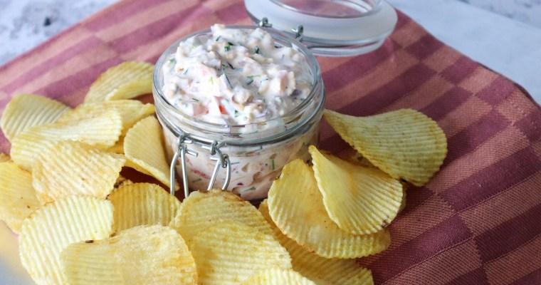 Loaded Dip Med Bacon, Ost Og Purløg – Lækker Dip Til Chips