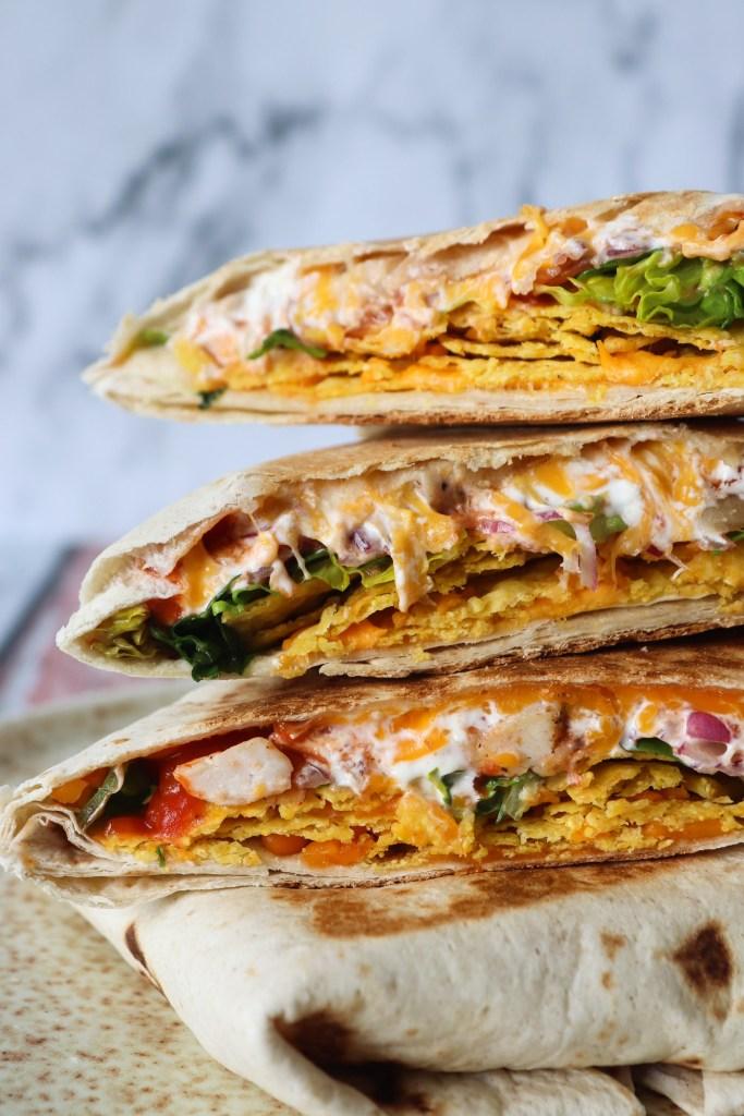 Sprøde Nachos Crunch Wraps - Tortillas Med Nachos Fyld