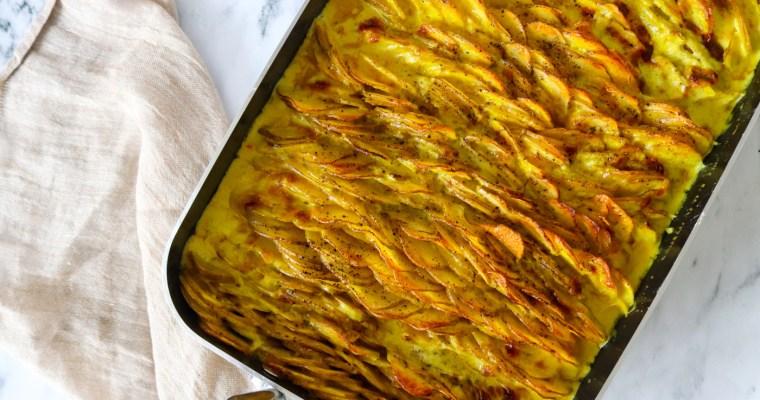 Lækre Cremet Og Sprøde Flødekartofler I Karrysauce