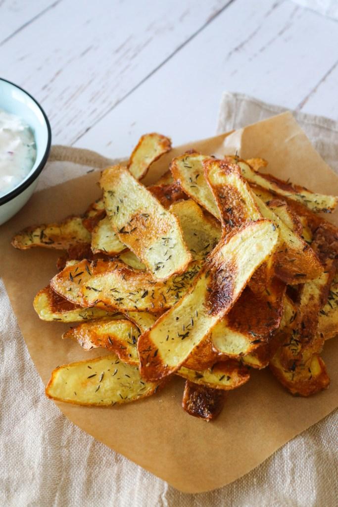 Hjemmelavet Chips I Ovnen - Sprøde Ovnbagte Chips