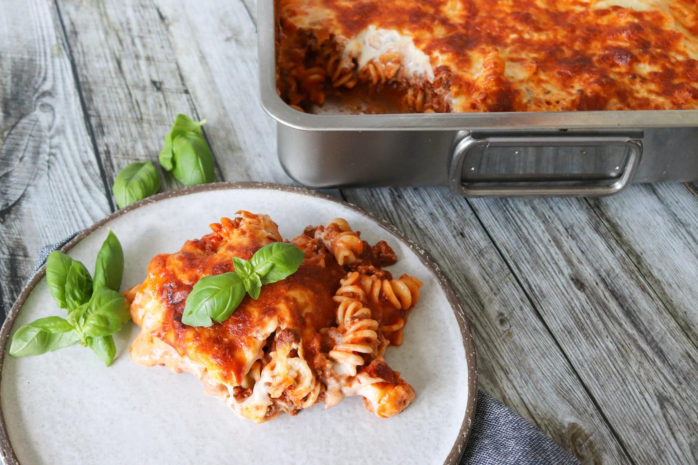 Opskrift På Lasagnette – Pasta Med Kødsauce Bagt Med Ost
