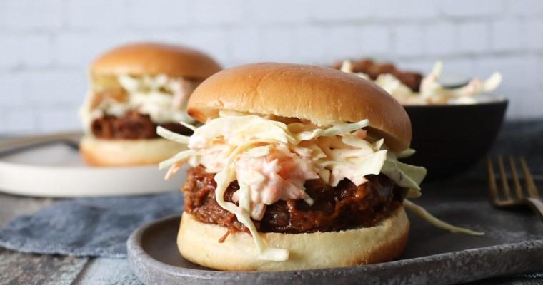 Pulled Pork Burger Med Bearnaise Coleslaw