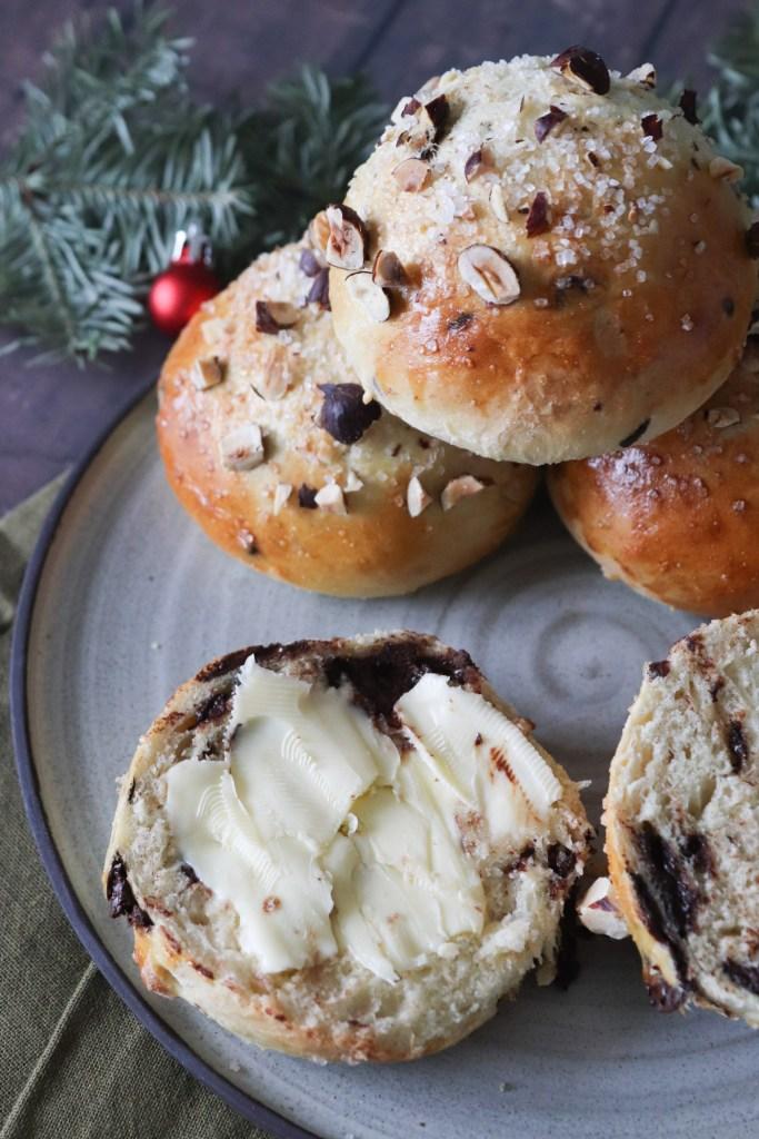 Juleboller Med Chokolade Og Kardemomme