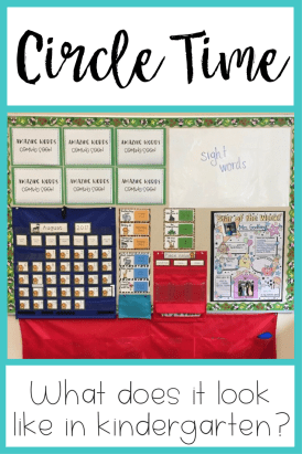 Circle Time: What does it look like in kindergarten?   One