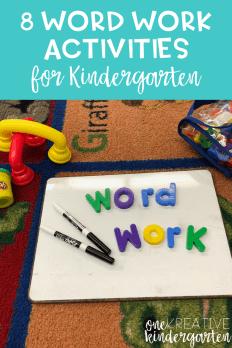 8 Word Work Activities For Beginning Of The Year Kindergarten