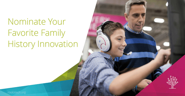One Legacy nominated for the RootsTech 2018 Family History Innovative Service Award! By