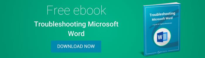 Troubleshooting Microsoft Word