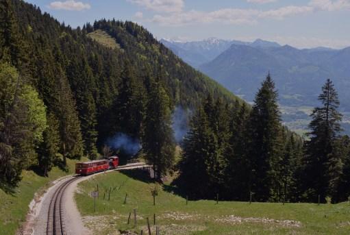 train through the mountains