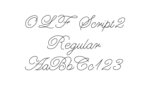 OLF Hand & Script single line fonts