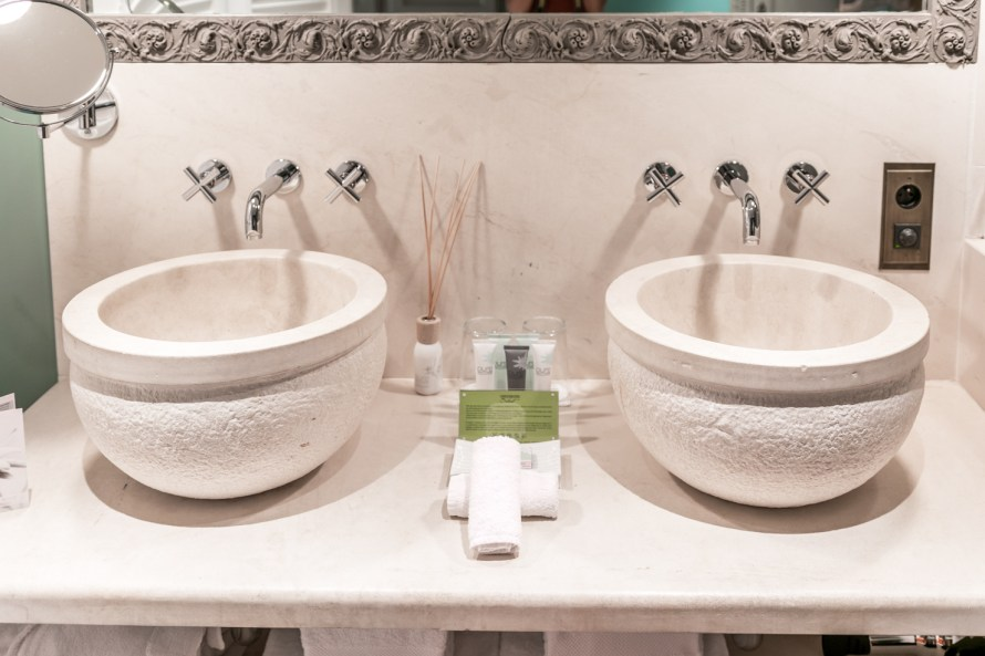 dual sinks at Villa Marie Saint Tropez