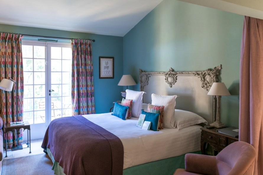 bed in the bedroom at Villa Marie Saint Tropez