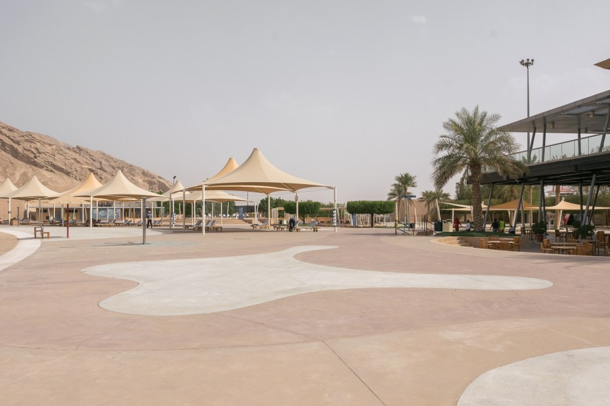 outdoor lounge at wadi adventure