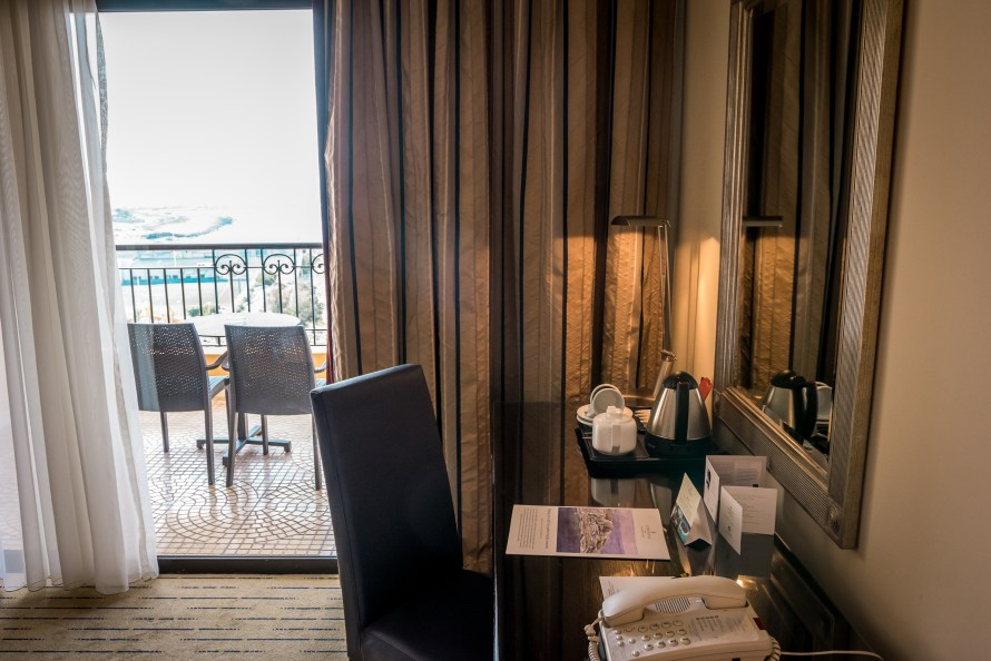 desk in room at Corinthia Hotel St. George's Bay Malta