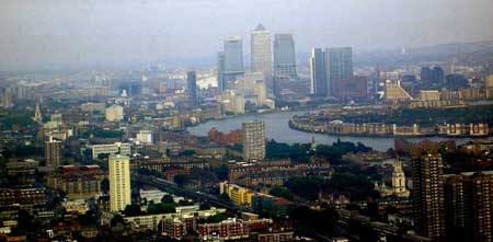 View to Canary Wharf