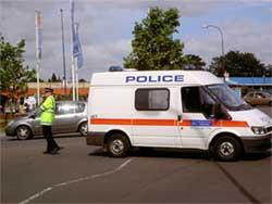Police at Lewisham Roundabout