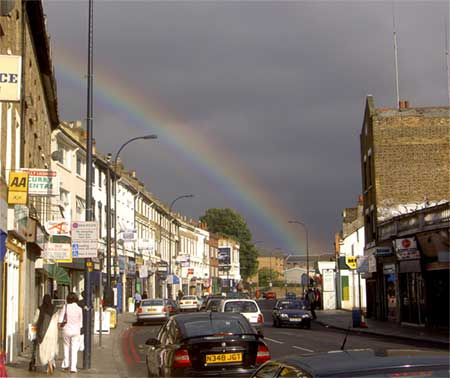 Lee High Road rainbow