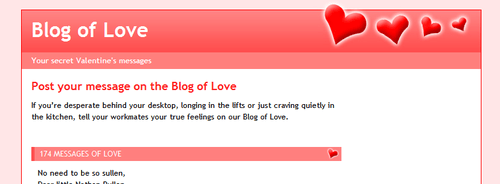 Blog of Love header