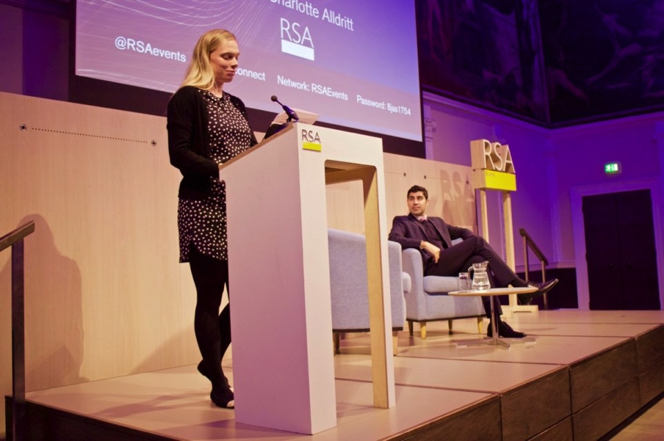 Charlotte Alldritt introduces Parag Khanna at the RSA