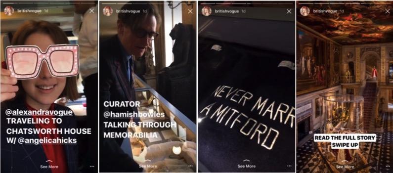 Vogue Instagram stories