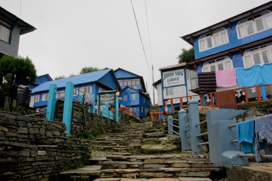 Some villages consists almost only of restaurants and tea houses