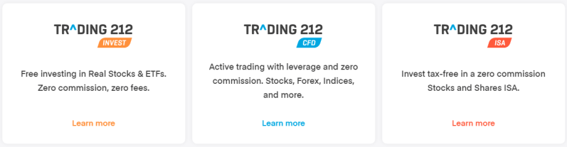 Trading 212 account types
