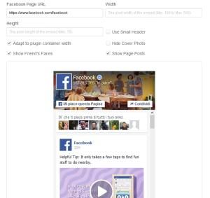 creazione container fan page FB