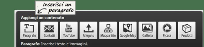 Come inserire paragrafi di testo in un sito web
