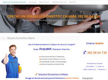 creare sito idraulico