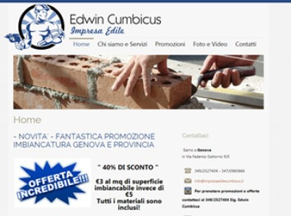 esempio sito per impresa edile