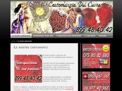 esempio di sito per cartomante