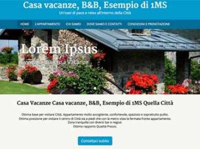 esempio di sito per casa vacanze