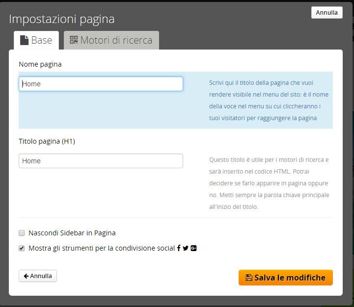 ottimizzazione sito web