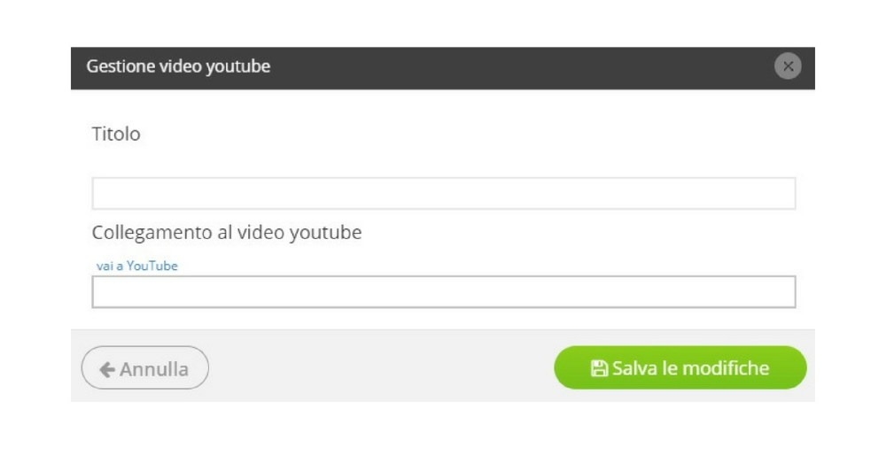 Carica video Youtube sul tuo sito web