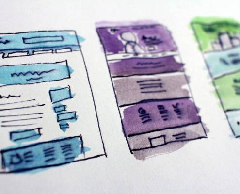 wireframe sito web