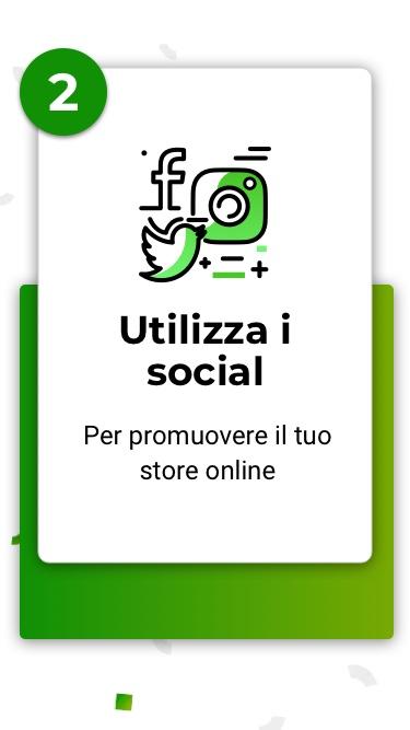 Utilizza i social
