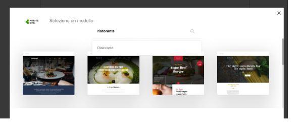creare un sito web su oneminutesite template