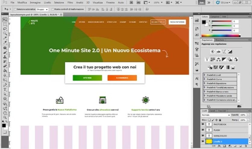 Crea una pagina web con Photoshop slider