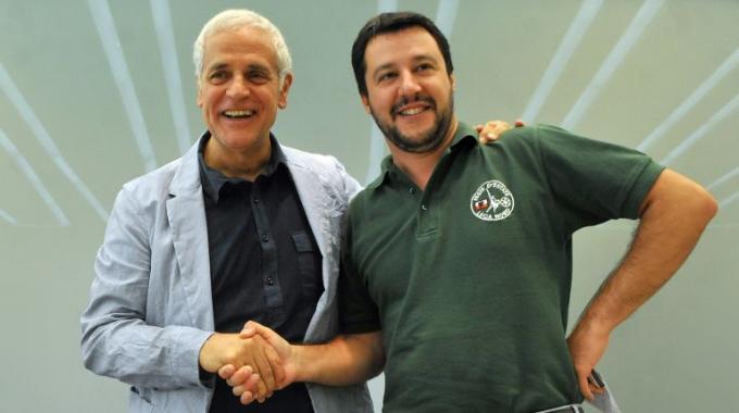 Roberto Formigoni e Matteo Salvini