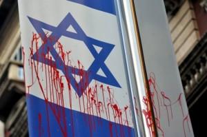 Bandiera di Israele imbrattata