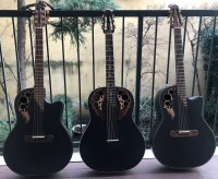 Three black Ovation Adamas