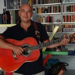 Alberto Biraghi with his Ovation 1157 Anniversary