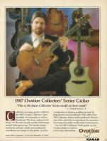 Bill Kaman ot the Ovation 1987 Collectors ad