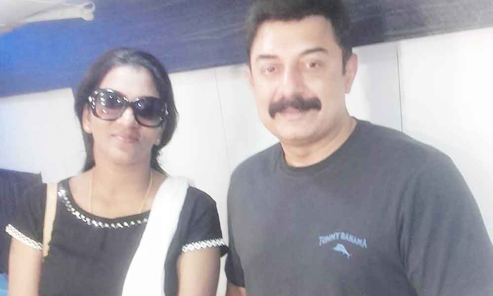 Shanthi with Actor Arvind Swamy