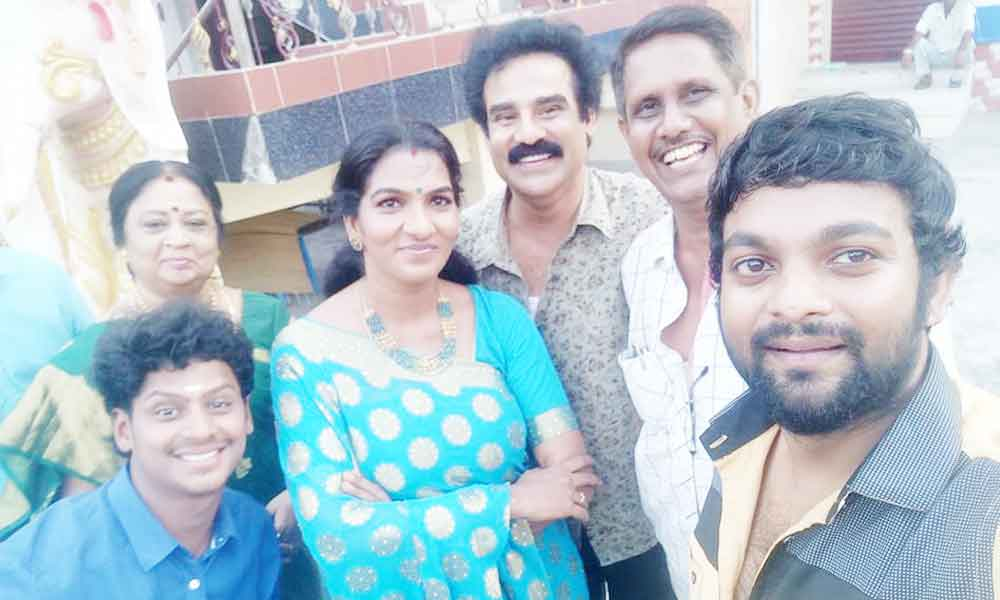 Shanthi with Kula Deivam serial cast