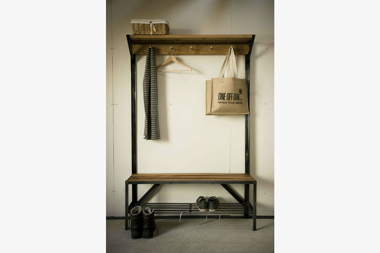 coat rack bench bespoke handmade