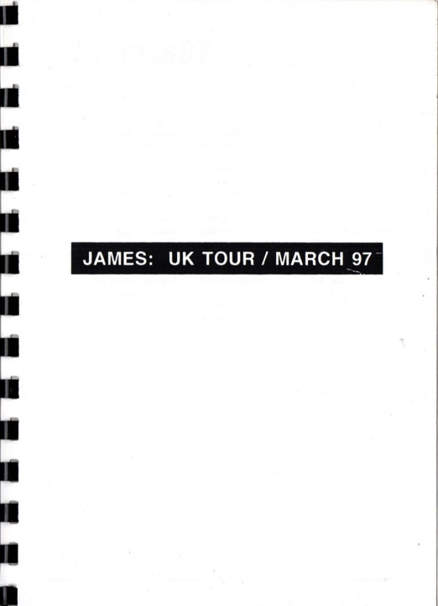 Itinerary: 1997 March UK Tour