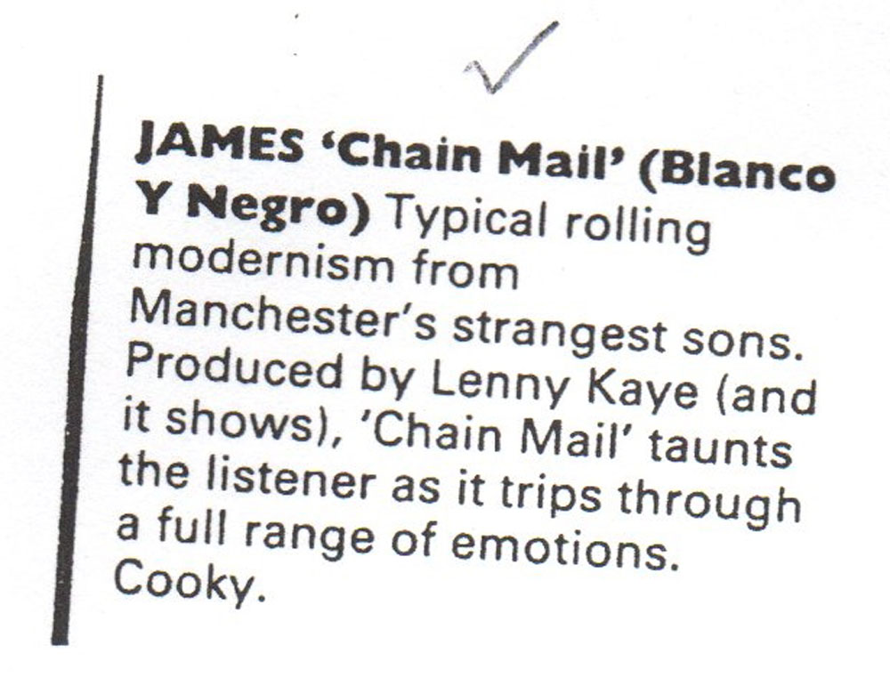 one of the three chain mailchain mail the james band archive
