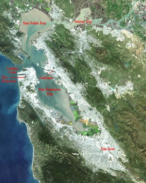 THE SHRINKAGE OF A WATER SURFACE: SAN FRANCISCO BAY