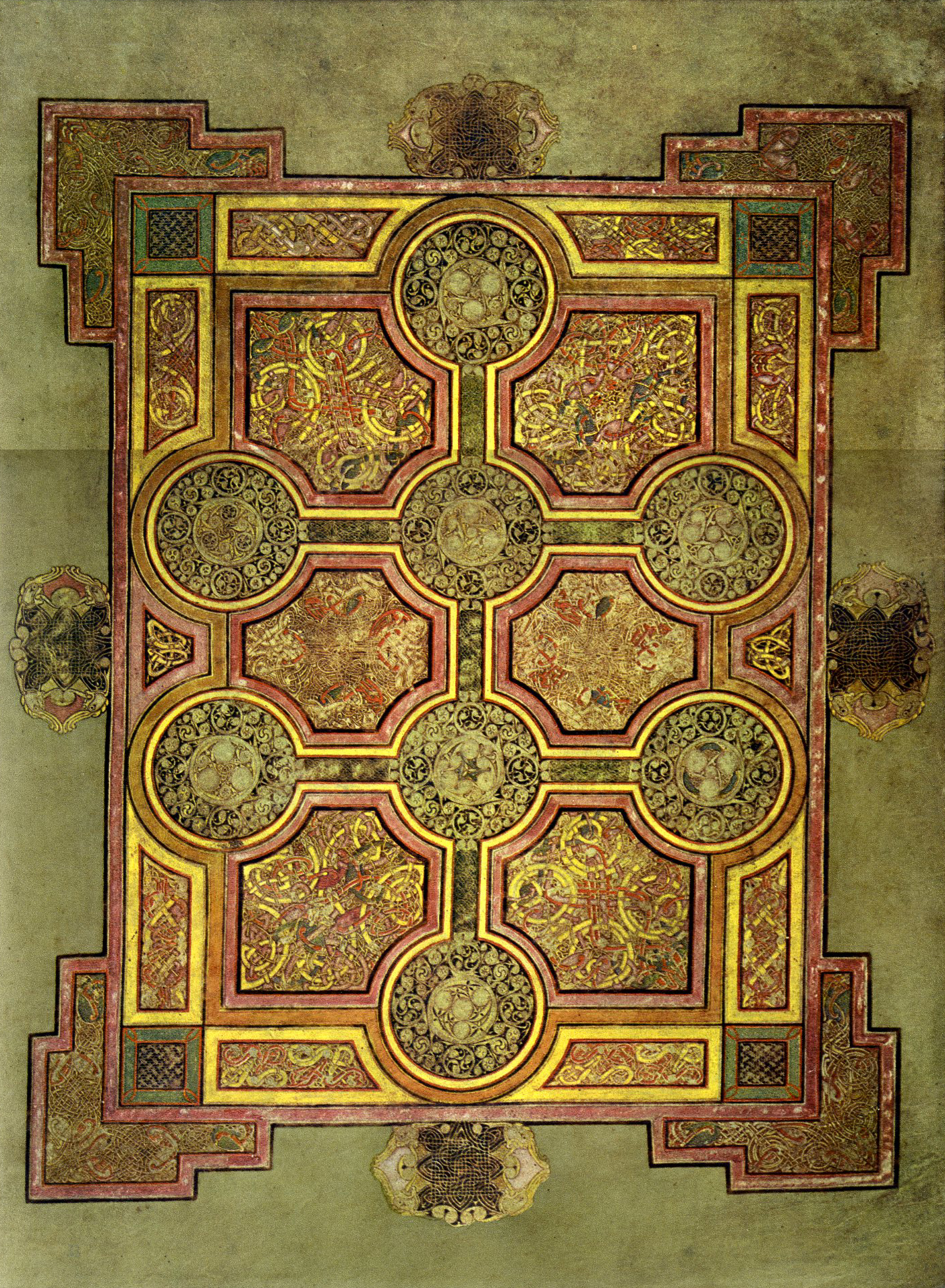 ChiRho Page from the Book of Kells The Word Made Flesh