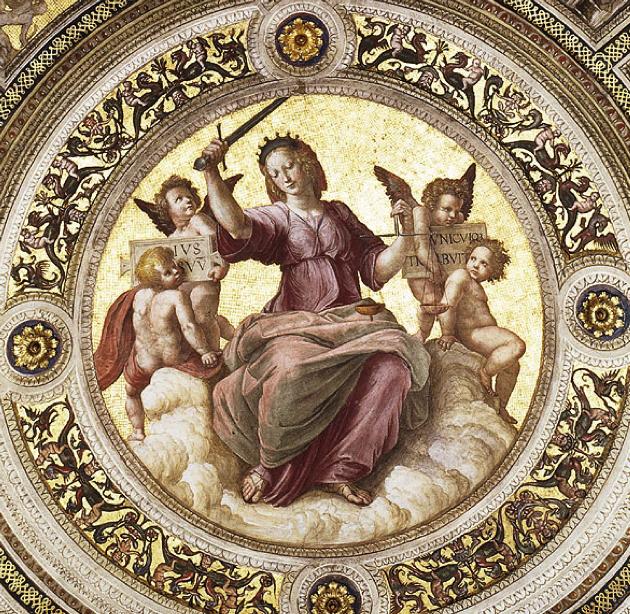Ceiling Of The Stanza Della Segnatura